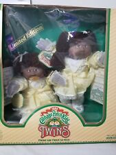 Rare 1985 Limited Edition Cabbage Patch Kids Twins Black