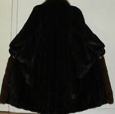 MAXIMILIAN BLOOMINGDALE'S Ranch Mink & Fox Fur Coat Size 8-10 Free Shipping