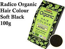 RADICO Soft Black Organic Hair Colour 100g ( Made from Henna & Herbs )