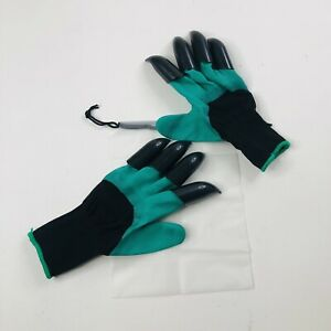 NNBB Two-Handed Garden Gloves Double Claw Green Digging Landscape Black Claws
