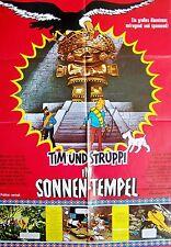 HERGÉ + TINTIN AND THE TEMPLE OF THE SUN + EDDIE LATESTE + GERMAN 1-SH +
