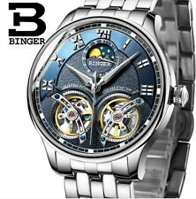 luxury watch men BINGER brand quartz full stainless Wristwatches Chronograph