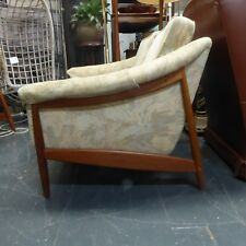DUX VINTAGE MID CENTURY 2 SEAT COUCH LOUNGE TEAK SCANDINAVIAN DESIGN DANISH