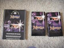Merlin Wizard Vhs Sci-Fi & Fantasy Hallmark Entertainment/Nbc Script Book