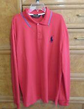 Men's Ralph Lauren Polo Golf L/S Pima Cotton coral shirt size XL brand new NWOT