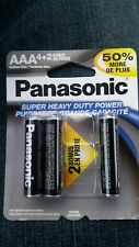 Panasonic Super Heavy Duty AAA Batteries, 6-ct. Bonus Packs ***USA SELLER ***