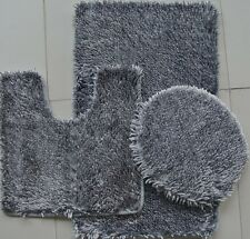 3 Piece Shaggy Shiny Chenille Made with 100% Polyester ( Gray