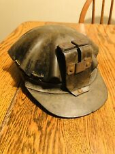 Antique Vintage Coal Miners Helmet Turtle Shell Leather Coal Mining  Low Vein