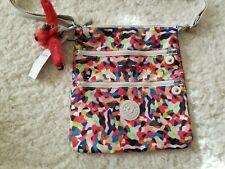 Kipling Keiko Crossbody Messenger Shoulder Bag Multi Splatter Monkey Keychain