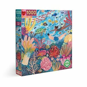 eeBoo 1000 Pc Puzzle – Coral Reef Kids Puzzle Family Puzzle 04131