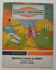 HARLEY DAVIDSON Accessories 1965 dealer brochure - English - Canada Montreal