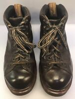 Dr Martens Men 7 UK 8 US Doc 8287 Boots Air Wair Brown Leather England Made
