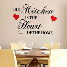 The Kitchen Is The Heart Of The Home Wall Quote Sticker | Decal Decor Mural UK