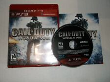Call of Duty: World at War (Sony PlayStation 3, PS3, 2010) COMPLETE w/ Manual