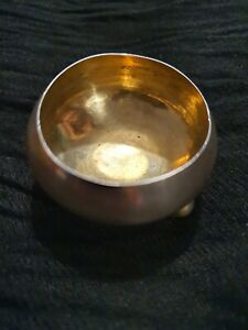Antique Russian Solid Silver 84 Salt Cellar / Cauldron / Pot / Bowl approx 21 gm