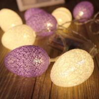 Easter Led Egg 10pcs Home Decor Spring Light Decoration Tree String Holiday Egg