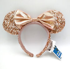 2020 Sequins Bow Minnie Ears Mickey Mouse Disney Parks Champagne Gold Headband