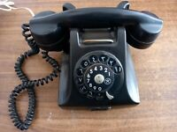 Rare Vintage Ericsson Lm Black Bakelite Telephone 1950'S Made In Swenden,working