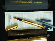 Montegrappa Reminiscence Solid Sterling Silver 925 Vermeil Small Fountain Pen