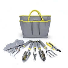 Jardineer 8 Piece Gardening Tools Set with Small Garden Tools and Big Garden for