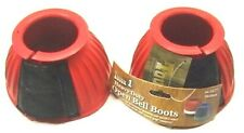 Performers First Choice medium red pro guard bell boots horse tack 66-24277