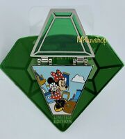 New 2020 Disney Pin Trading 20th Anniversary Hinged Minnie Emerald Green Gem