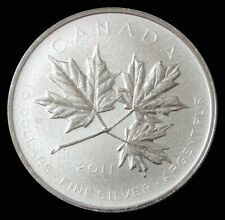 2011 SILVER CANADA $10 MAPLE LEAF FOREVER 1/2 OZ COMMEMORATIVE COIN