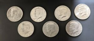 KENNEDY HALF DOLLARS VARIOUS YEARS JOB LOT