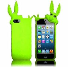 For iPhone 5 5S SE Rubber SILICONE Soft Gel Skin Case Phone Cover Green Rabbit