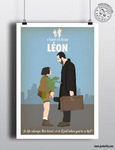 LEON the professional - Minimalist Poster Minimal Design Print Posteritty Art
