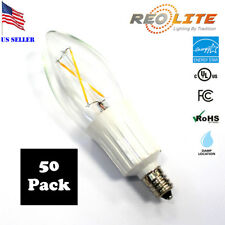 Candelabra LED Light Bulb B10 2W - 25W Replacement E12 Base Chandelier 50 Pack
