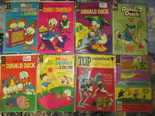 Disney Gold Key 16 Comic Book Lot Donald Huey Dewey Louie Mickey Mouse 1970s VF