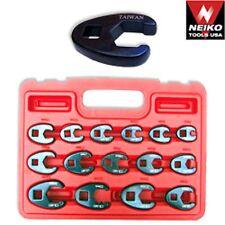 "15 Pc Neiko Pro Crowfoot Wrench Set Metric 8 - 19 MM 3/8"" & 1/2"" Drive Flare Nut"