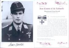 SPGL11 German Bomber Luftwaffe photo signed OSWALD KC HS126 Tank Buster
