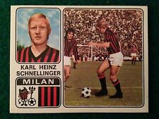CALCIATORI 1972-73 1973 n 205 MILAN SCHNELLINGER , Figurina Sticker Panini NEW