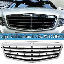 FOR MERCEDES BENZ E CLASS W212 2009-2013 FRONT KIDNEY GRILLE CHROME BLACK