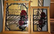 Framed Stain Glass wall art