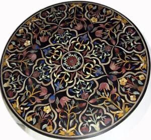 "42"" Table Top semi precious stones marble table top handmade inlay"
