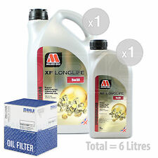 Engine Oil and Filter Service Kit 6 LITRES Millers XF Longlife 5w-30 6L