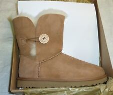 UGG Australia Womens Bailey Button II Boot Sz 8 Chestnut New!