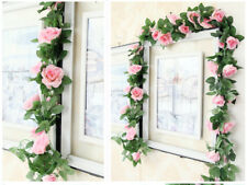7ft Rose Garlands Vintage Style Rose Floral Garland Wedding Xmas Home Decor