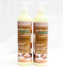 CUCCIO Naturale Hydrating Spa Pedicure Coconut Extended Massage Lotion 8oz - 2ct