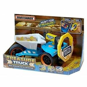 Matchbox Treasure Truck w, Real Working Metal Detector New in Box!