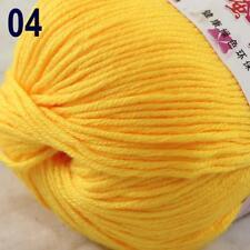 Sale New 1Ball x 50g Cashmere Silk Wool Hand Knit Wrap Shawls Crochet Yarn 04