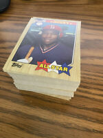 (100) 1987 Topps Kirby Puckett #611 Minnesota Twins NM+