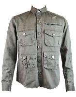 Eleven Paris Men's MISHER Long Sleeve Shirt/Jacket Stone Black (EPST018)