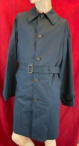 BNWT POLO RALPH LAUREN Gents Knee Length Navy Trench Coat. Size 36R