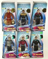 (6) Playmates Star Trek Warp Factor Series Action Figures Riker Bashir more Auc2
