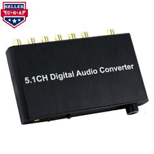 NOVPEAK 5.1CH Toslink Coaxial Digital Audio Converter Analog Decoder 192kHz
