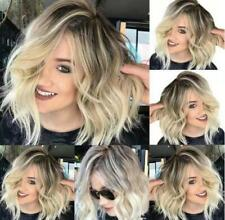 Fashion Short Women Curly Wavy Brown Blonde Hair Wigs Ladies Style Natural UK FA